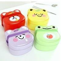 Wholesale / retail creative home cartoon lunch boxes / animal-shaped plastic box / MINI Food Box / 7-color, free shipping