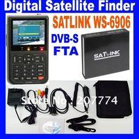 New version, Satlink WS-6906 DVB-S FTA Digital Satellite Finder Meter ,Free shipping