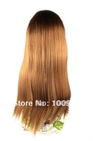 HW0013 Free Shipping 1PCS/Lot Auburn 68CM Length Straight Bang Carney Carron Long Ladies' Synthetic Fashion Lace Hair Weft