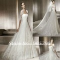 Dropshipping Sweatheart Embroiderd A-line wedding  gown