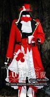 Super deals Pandora Hearts Oz Vessalius Red Full Dress Cosplay Costume Free Shipping