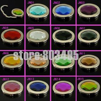 oval shaped purse hooks! 15 colors high quality glass material bag hanger,ladies hand bag hanger,purse hanger/handbag hanger