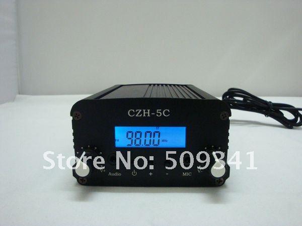 NEW HOTSALE!5W PLL Stereo LCD Broadcast Radio Station FM transmitter 76-108Mhz freeshipping wholesale(China (Mainland))