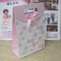 50pcs/Lot 141-3 Size S nice promotion bag with flower printed,sweet wedding gift bag,paper packing bag,shopping bag for boutique