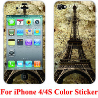 10pcs/lot For iphone 4 skin sticker cover protector, PVC material, accept mix designs