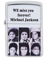 Star Cigarette Lighter with Michael Jackson (Silver),lighter, cigarette lighter,free shipping