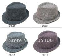 Unisex Fedoras Hats Hat Classical Solid Tweed Fedora Hats Winter Warm Caps Mix Order