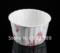 500pcs White  Colour Round MUFFIN CAKE WHITE DOT CUPCAKE CASES paper cake cups