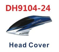 Free shipping DH9104-24 DH9104-27 head cover spare pares canopy for 71cm 3CH Gyro Metal rc helicopter DH9104 rc toys plane