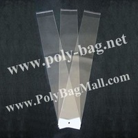Plastic Bags (13x49cm) for Hair Extensions with self adhesive seal and with hanger header & Free Shipping