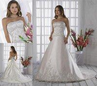 WH079 dropshipping New style sexy wholesale sleeveless wedding dress