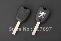 UNCUT PEUGEOT 107 207 307 407 Remote Key Case Shell FOB