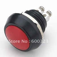 Colour push button switch V12 (12mm) Zn-Al. alloy with Red cover