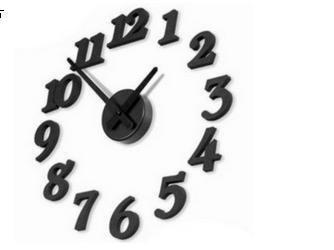Fashion DIY wall alarm clock,  mute electronic wall clock, decorative wall clocks, quartz clock Free Shipping