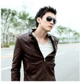 2012 NEW, elegant fashion hot selling cool mens leather jacket coat