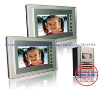 "Ultra-thin 7"" Colour  video door phone / taking picture automatically  / high-definition  / Aluminum alloy outdoor  1 to 2"
