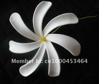 8CM 8KL114A FREE SHIPPING NEW ARRIVAL HOT SALE WHITE 288PCS 8CM TIARE FOAM FLOWER HAWAIIAN FOAM FLOWER HAIR FLOWER WITH STEM