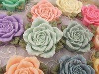 free shipping ZAKKA DIY Handmade jewelry  resin flower parts   large ribbon roses Pendant resin cabochon