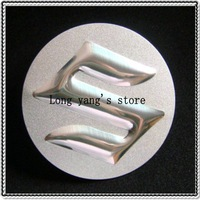 Free shipping 50set/lot 3D wheel center cap 3D suzuki  center wheel Sticker Badges Emblem 55.5 mm