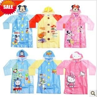 Free shipping cartoon children raincoat wholesale,Rain Coat for Kids,School,Branded Original Cartoon Children Rain Gear(China (Mainland))