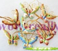 Free shipping! New 6PCS CHRISTMAS ORNAMENT CLOISONNE BUTTERFLY Gift
