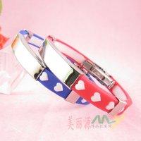 10pcs/lot ,Romantic Love Silica Gel Bracelet, Lady Bracelet Bangles A2241