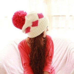 Anti Snow Ear Cap / Wool Knit Hat,6Pcs/Lot,Wholesale,Free Shipping+Free Gift