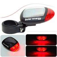Wholesae Solar bike rear Tail Lamp Solar bicycle end light Led 100pcs/lots Free shipping