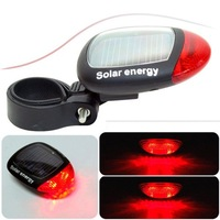 Wholesae Solar bike rear Tail Lamp Solar bicycle end light Led 100pcs/lots Free shipping