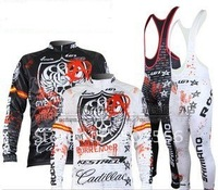 1PCS 2011 Hot Sell Winter Fleece/Thermal Cycling Jerseys+ Bib Pants Sets/Bicycle Wear/Rock Bike Jersey/Biking Gear+Free