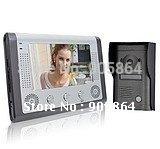 Free Shipping -7 inch Color Video Door Phone Doorbell Night Vison Rainproof Function