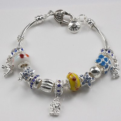 All Products Worldwide Free Shipping! Many Cute European Beads 925 Silver Style Chain Braclet PBB48(China (Mainland))