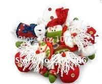 Free shipping6pcs/lot fabric santa snowman Christmas decorations, Christmas decorations ,Christmas gifts,santa snowman ornament