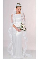 Free Shipping 100% Gurantee New Wholesale Retail embroidery train/long veil/wedding veils