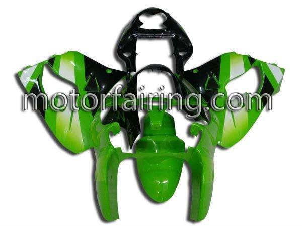 Race fairing / body kits for motorcycle Kawasaki Ninja ZX-9R 00-01 2000 2001 Bodywork Kits with ABS Injetion Green&Black&Silver(China (Mainland))