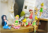 Tinkerbell Fairy Figures High Quality PVC 6 pcs 50set/lot Free Shipping