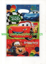 Big discount !! Wholesale 2000pcs The car 3 LOOTS BAG PARTY FAVORS SUPPLIES,16.2cm x 24cm,Free shipping(China (Mainland))