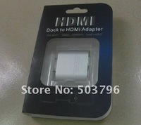 Free shipping HDMI 720P/1080p to TV Adapter Dock Fr Apple iPad1  iPAD2  iPhone4/4S  iPod touch4