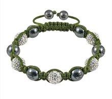 Wholesale - NEW HOTSALE Tresor Paris 'Louvre' White Crystal Magnetite Bracelet,Tresor Paris bracelet. 100pcs/lot(China (Mainland))