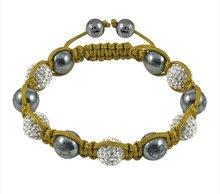Wholesale - 20pcs/lot NEW HOTSALE Tresor Paris 'Louvre' White Crystal Magnetite Bracelet,Tresor Paris bracelet.(China (Mainland))