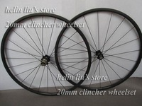 carbon wheelset/ 24mm clincher carbon wheels with light weight