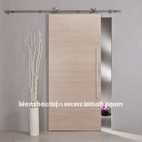 Free shipping+Elegent Top mounted solid wood sliding door full set hardware(high polished)