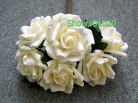 48 STEMS WEDDING BOUQUET FOAM ROSE BUNCH IVORY*LARGE