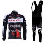 1PCS 2011 Kuota Hot Sell Winter Fleece/Thermal Cycling Jerseys+ Bib Pants Sets/Bicycle Wear/Bike Jersey/Biking+Free