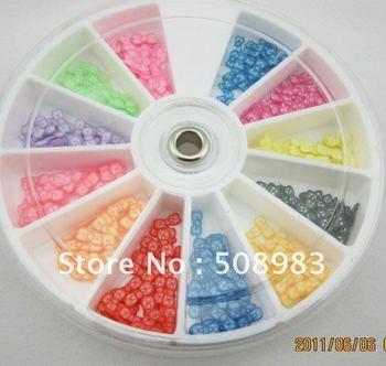 3D polymer clay Slice Rose Design Nail Art Decoration 20g/wheel  nail salons,nail decoration,Manicure
