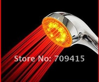 FreeShipping led temperature control LED Shower Head RC-9801 Bathroom accessories Self-powered led shower