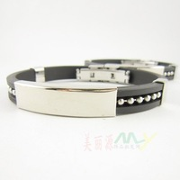 20pcs/lot Free shipping ,Titanium Steel Silica gel Healthy man Bracelet, Exquisite Bracelet(A2722)