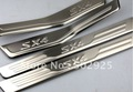 free shipping Suzuki SX4 hatchback 2010-2011 Stainless Steel Scuff Plate/Door Sill high quality(EMS USP DHL)