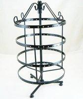 Black Jewelry Holder Display Rack For Earrings 72 Pair 144holes metal steel iron