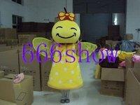 Yellow flying bee cartoon mascot costume free shipping